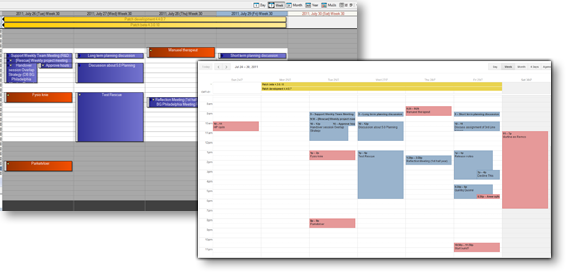 SyncJob Comparison between synchronized GroupWise and Google calendars